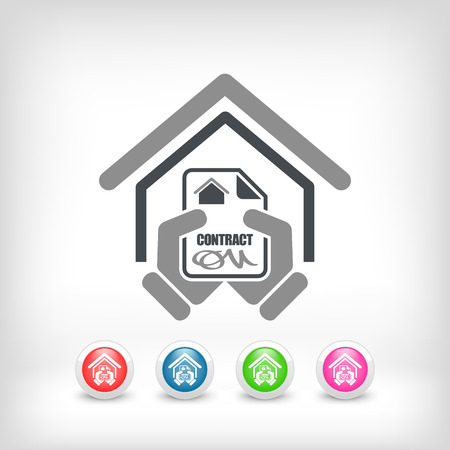 bank manager: House contract icon