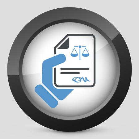 ratificaci�n: Documento legal icono