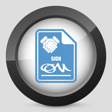 endorsed: Sign on agreement document