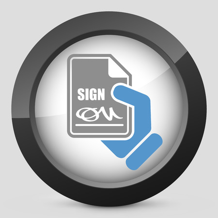 ratification: Sign on document icon