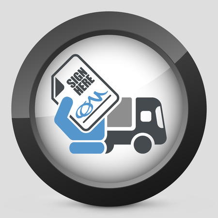 consignee: Delivery document sign icon Illustration