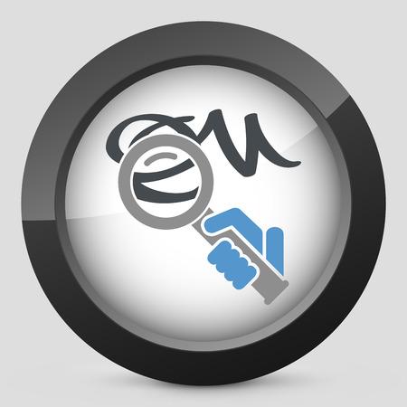 Verification of calligraphy icon Vector