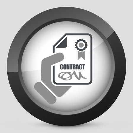 bank manager: Contract icon Illustration