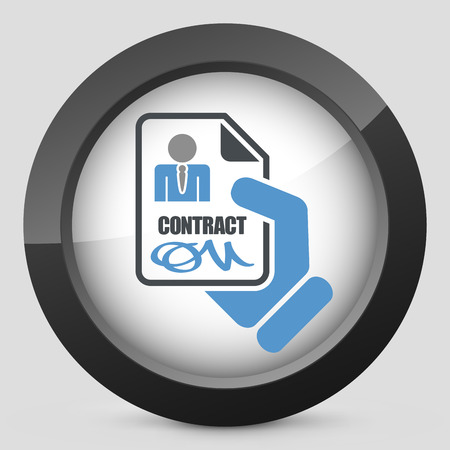 Worker contract signed icon Vector