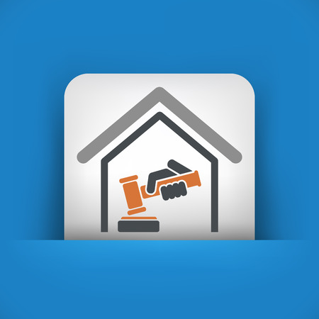 Court gavel icon Vector