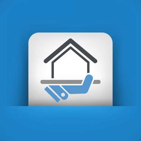 Real estate concept icon Vector