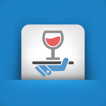 Wine list icon Vector