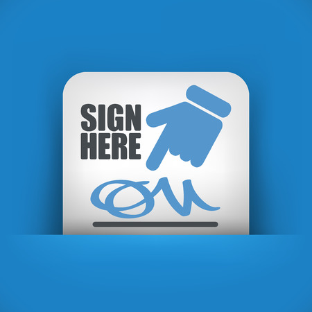 attestation: Sign on document icon