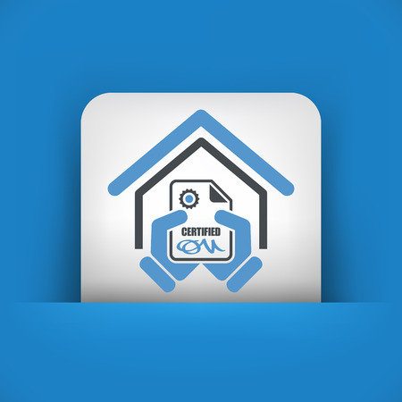 approval icon: Certified building icon