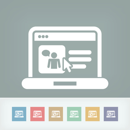 socialnetwork: Web chat icon  Illustration