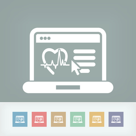 Medical website page Vector