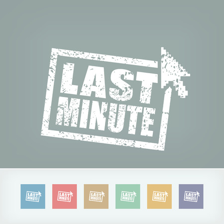 'Last minute' web grunge cartel Vector