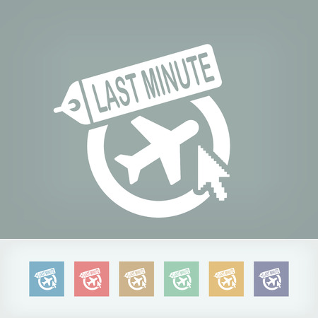Last minute link icon Vector