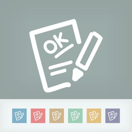 evaluation: Positive Bewertung icon Illustration