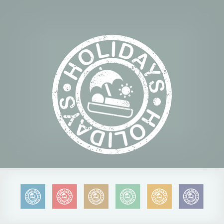 Holidays summer stamp grunge Vector