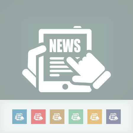 Illustration of web journal news icon