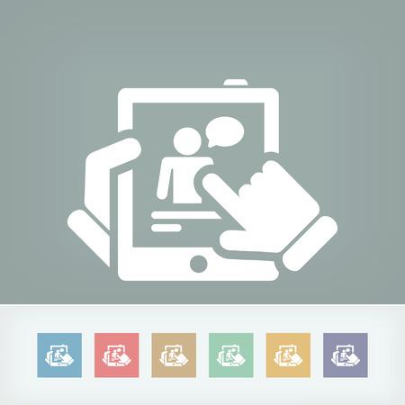 Chat on tablet Illustration
