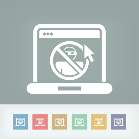 Illustration of web access data protection Vector