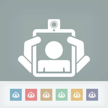 Webcam tablet icon concept Vector