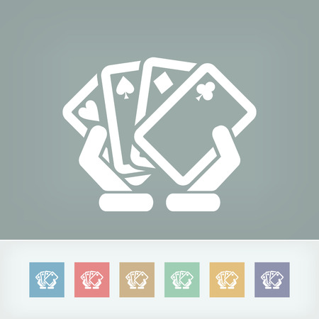 hold'em: Poker game icon concept