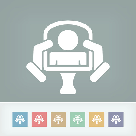 Classic mirror concept in modern icon Illustration