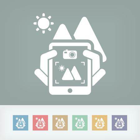 Landscape digital photo concept icon Stock Vector - 27148905