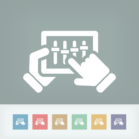Concept of touchscreen mixer icon Vector