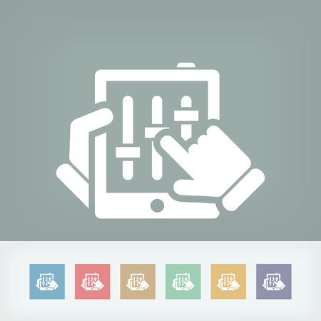 dee jay: Touchscreen mixer concept icon