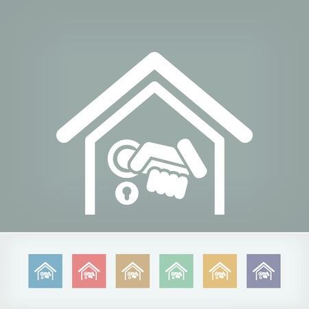 Home door handle icon Vector