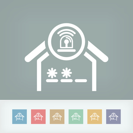 House alarm concept icon Vector
