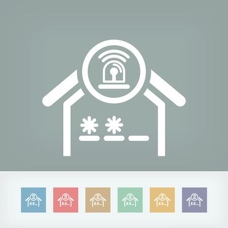 House alarm concept icon Illustration