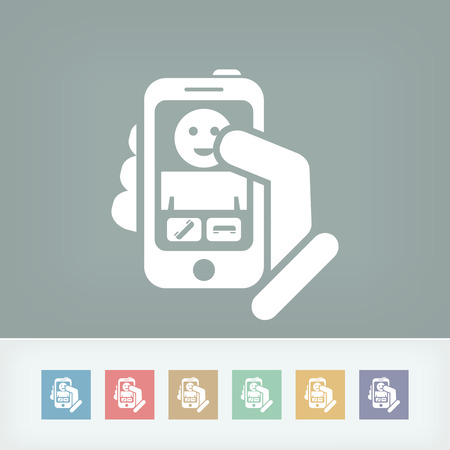 Smartphon incoming call icon Vector