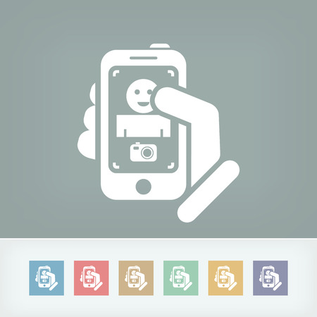 Touch device mobile photo portrait concept Vector