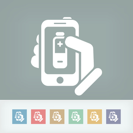 touck: Battery level smartphone icon Illustration