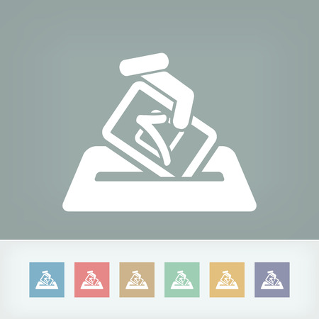 voter: Election concept icon Illustration