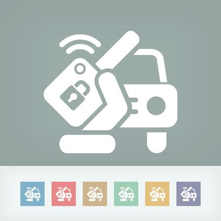 remote lock: Llave alejada del coche