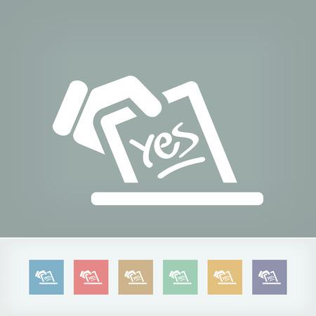 ballot box: Vote concept icon