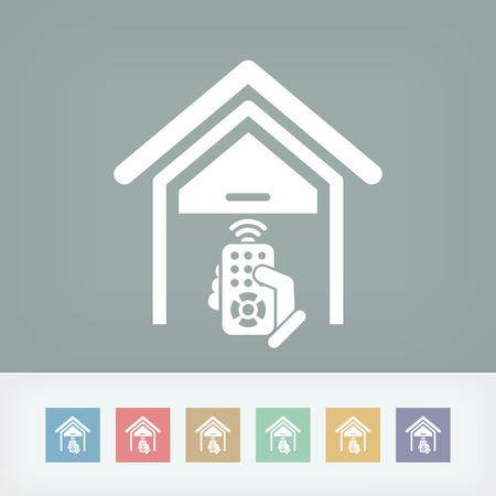 倉庫リモート コントロール  イラスト・ベクター素材