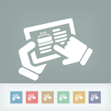 touchpad: Navy booking icon Illustration