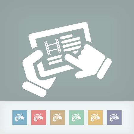Video touchscreen Illustration