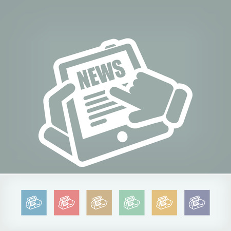 Web news icon Vector
