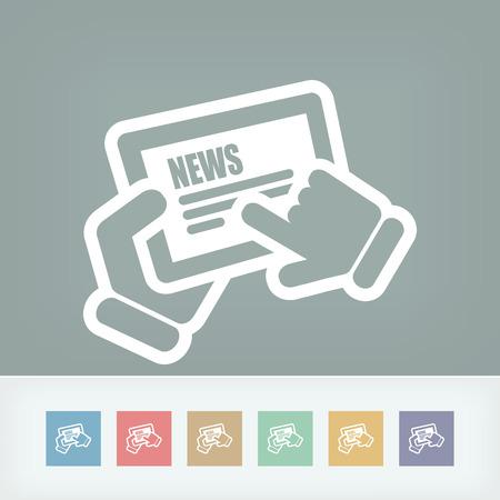 touchscreen: News touchscreen Illustration