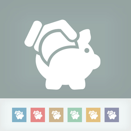 Business coin icon