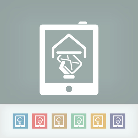 Tablet mail icon Vector