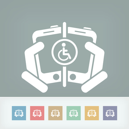 Disabled people connection Vector