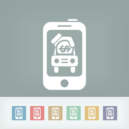 Automotive mobile icon Vector