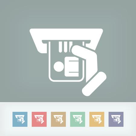 timecard: Identity card insert icon Illustration