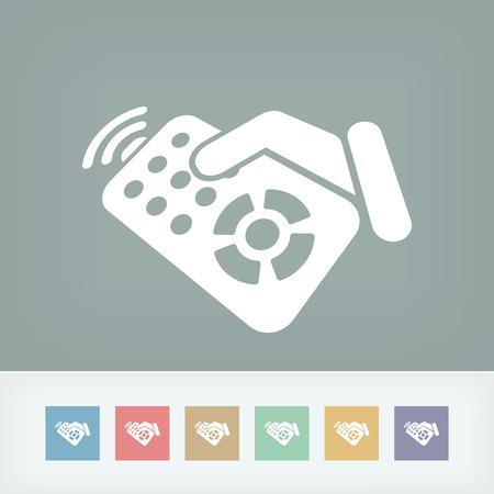 Icône de l'étiquette de contrôle à distance