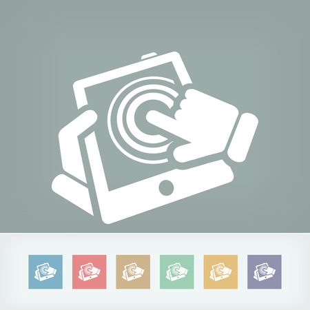 tabletpc: Touchscreen action icon Illustration