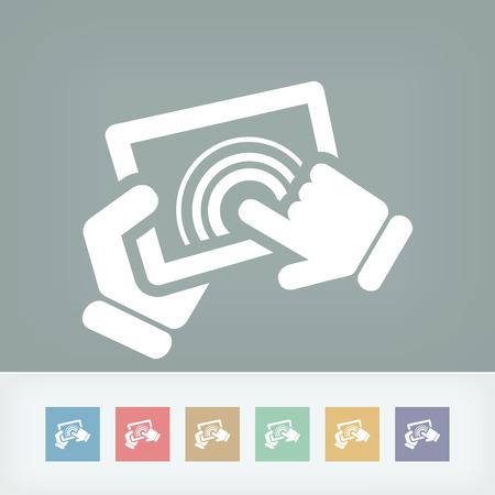 tabletpc: Touchscreen action icon Illustration